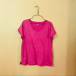 Magenta Knit Tee Shirt